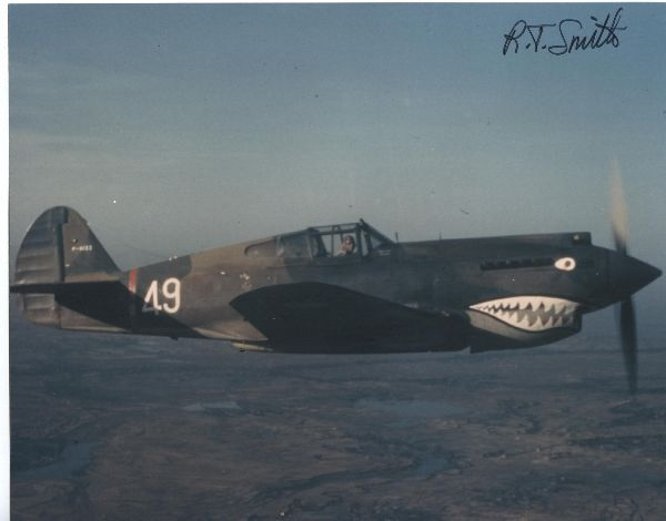 The photograph P-40 Tomahawk #49 flown by Tom Hayward of the Third Pursuit Squadron -- Hell's Angels -- of the American Volunteer Group was probably taken from aircraft #47 on May 28, 1942 near the Salween River Gorge on the China-Burma border. [via]