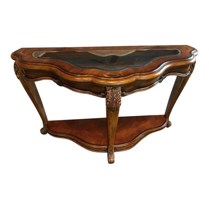 Astounding Rococo Michael Amini Palais Royale Cognac Finish Sofa Table Cjindustries Chair Design For Home Cjindustriesco
