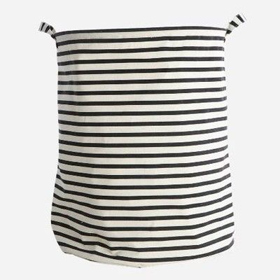 Details About Foldable Cotton Linen Washing Clothes Laundry Basket