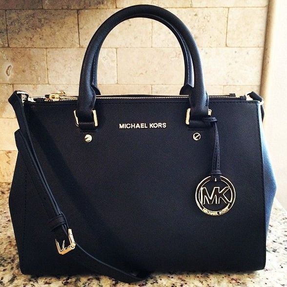 4d117a7fc63827 Shop Now: MICHAEL Michael Kors Sutton Medium Satchel... This is such a  classic looking bag, LOVEEEE it