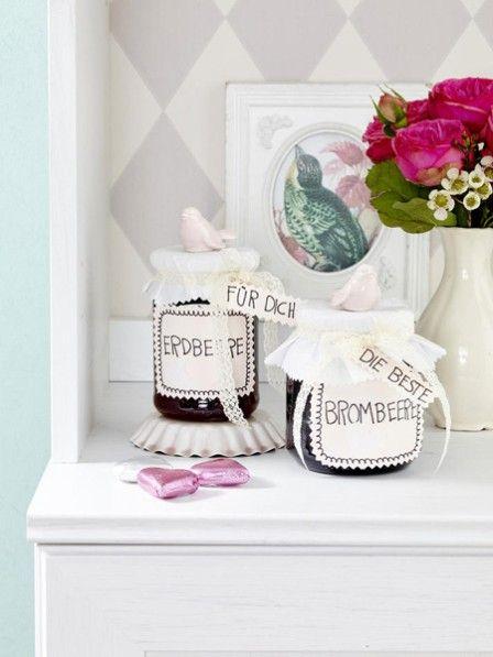 diy idee etiketten f r marmeladengl ser diy ideen marmeladengl ser marmelade und glas. Black Bedroom Furniture Sets. Home Design Ideas