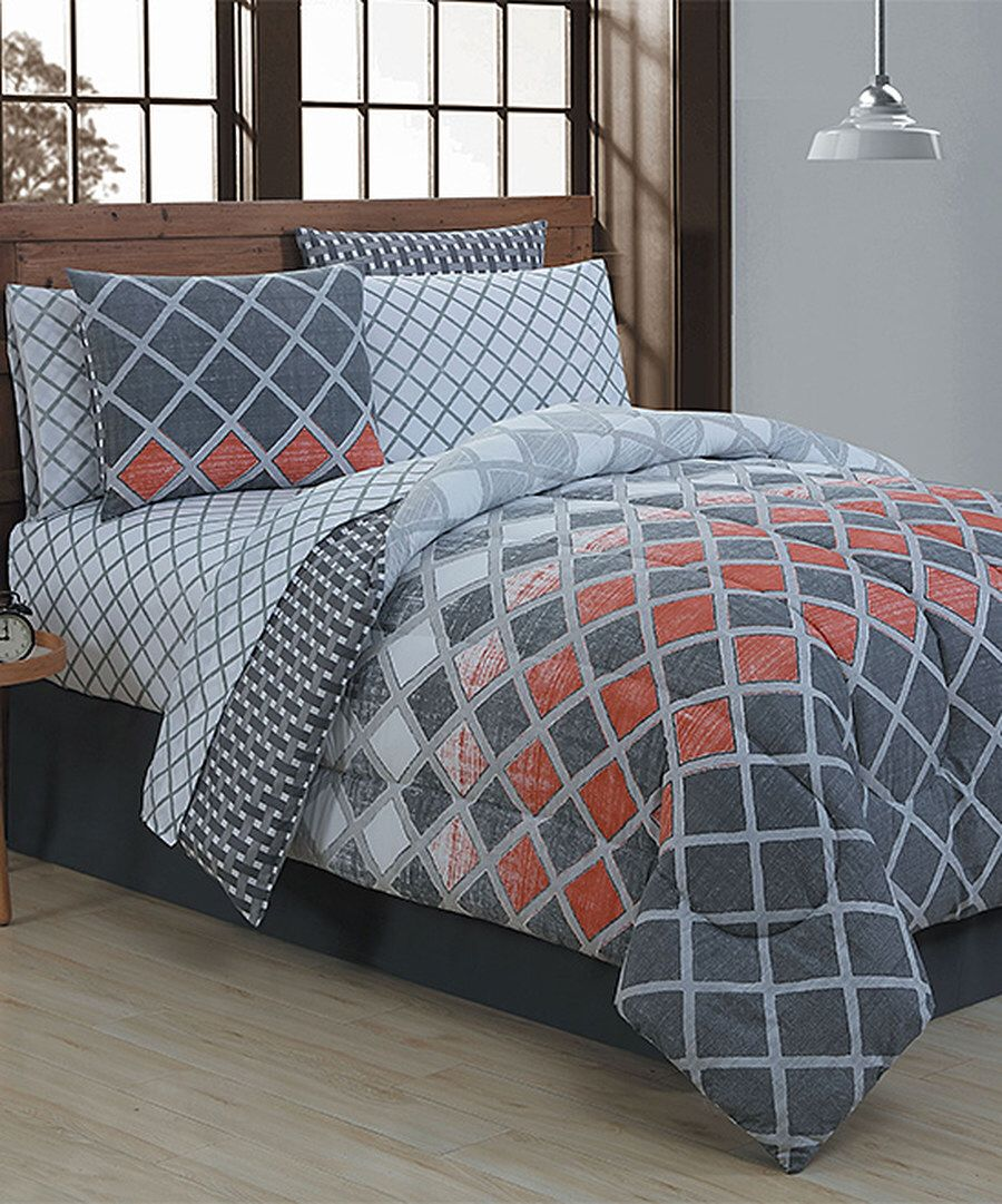 Look at this Spice & Gray Levi Eight-Piece Bedding Set on #zulily today!