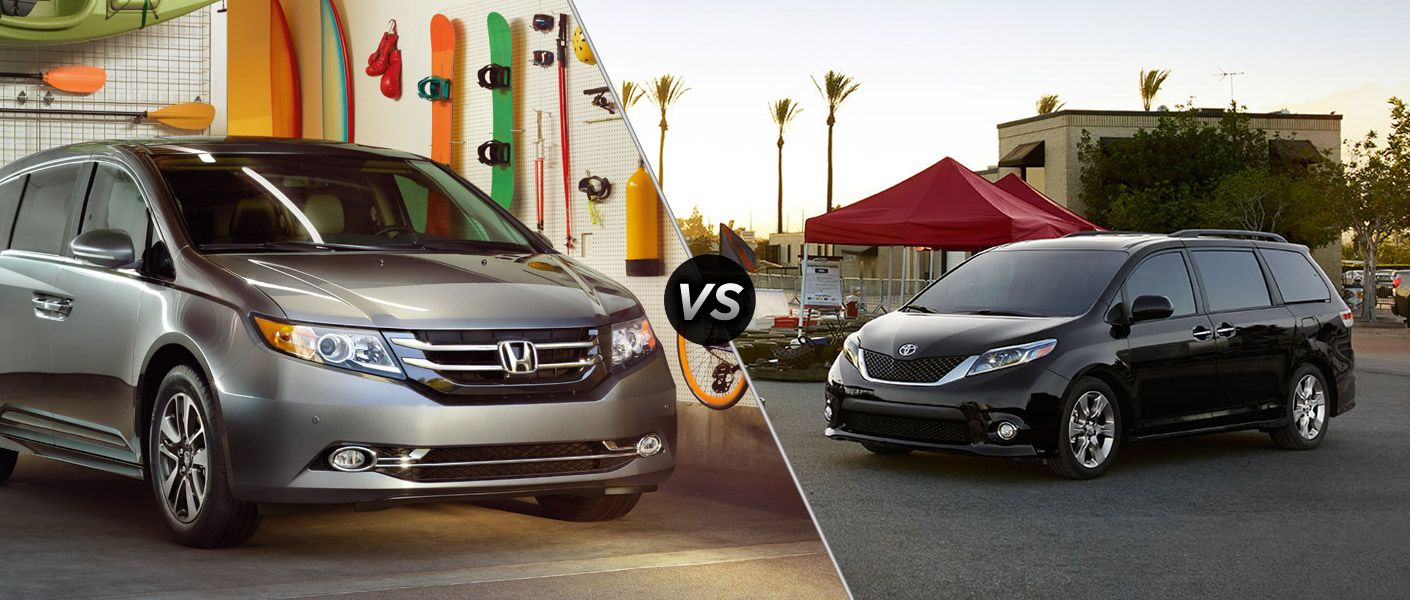 Honda Odyssey Vs Toyota Sienna >> The Battle Of Two Mighty Minivans Just How Do The 2015