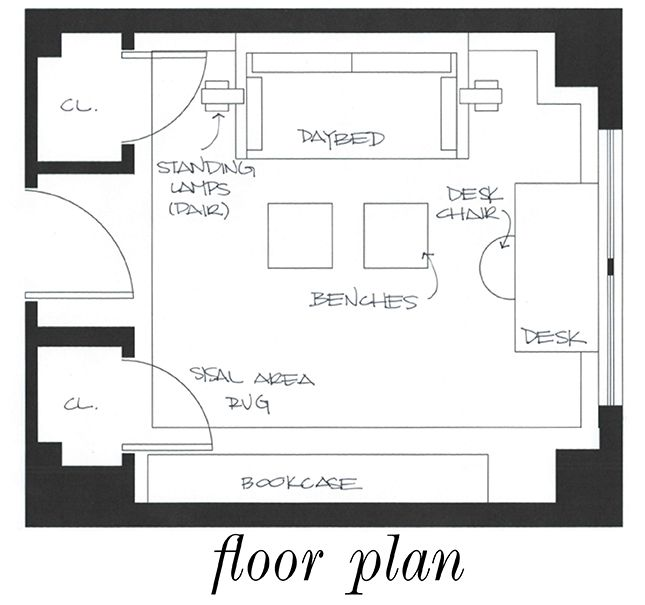 Guest Bedroom Layout