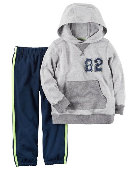 787d70235 2-Piece French Terry Hoodie   Jogger Set