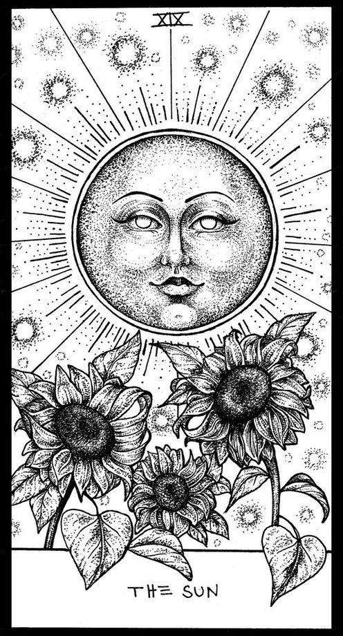 Sun Tarot, an art print by Corinne Elyse