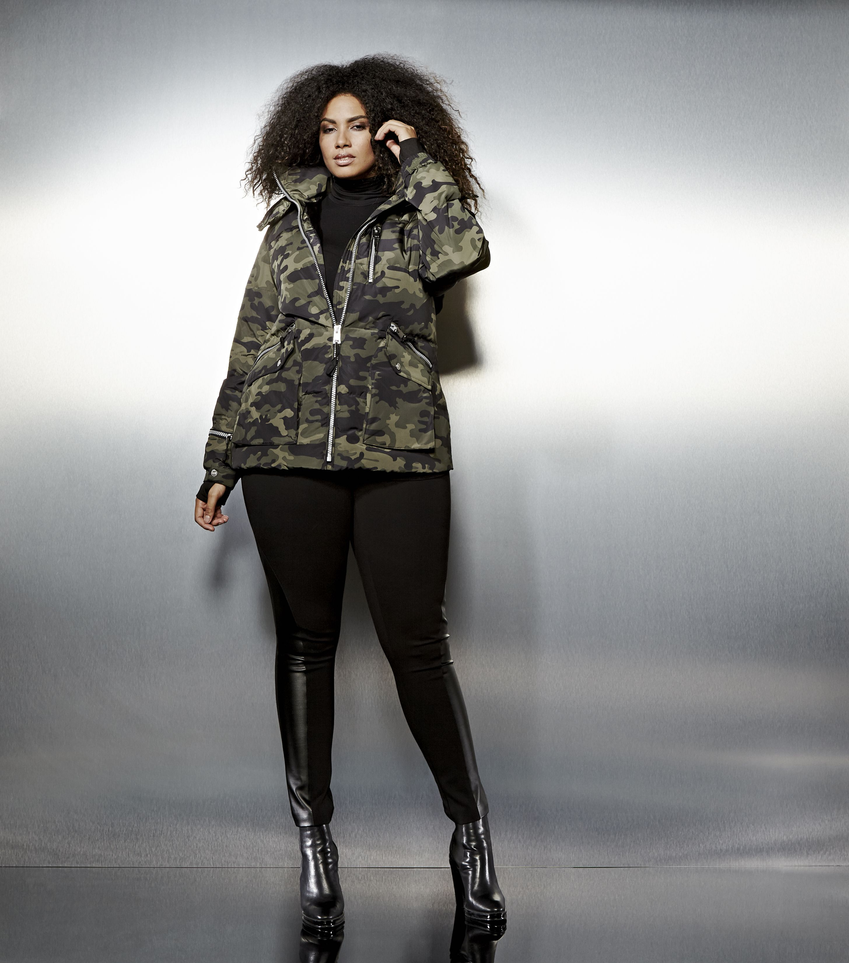 Livik Hooded Cropped Puffer Jacket Plus Size Plus Size Coats Plus Size Outfits [ 3300 x 2911 Pixel ]