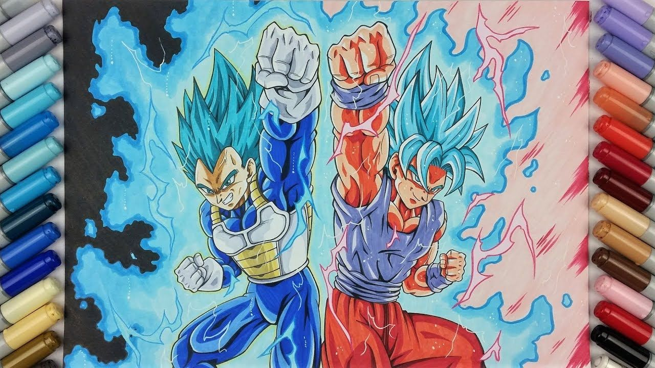 drawing vegeta ssj blue max power goku ssj blue kaioken x10