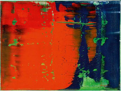 "Gerhard Richter Grün - Blau - Rot 789-38 Oil on canvas ; 1993 ; 30 x 40 cm ; 11 3/4 x 15 3/4 "" verso signiert, ""93"" dated and ""789-38"" numbered"