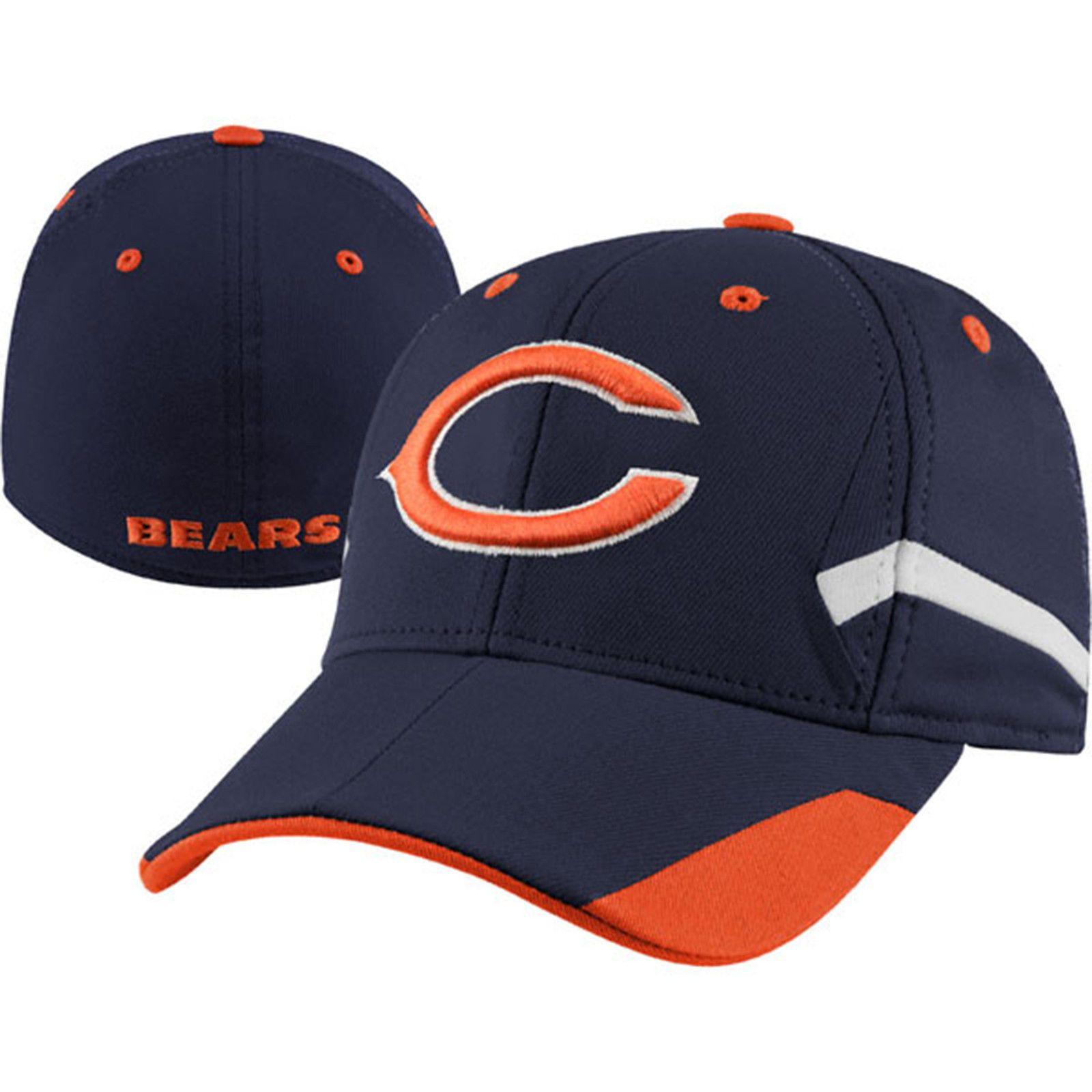 super popular e4341 2e226 Chicago Bears Youth Navy Flex Hat by Reebok | Sports World ...
