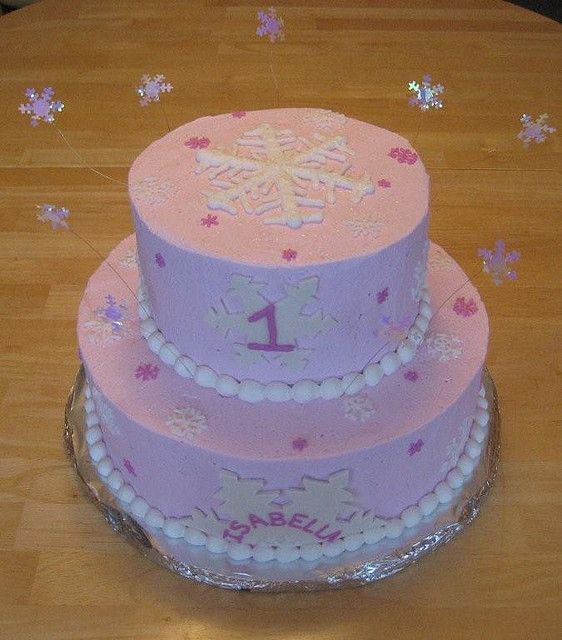 Pink Snowflakes Snowflake Cake Cake And Birthdays