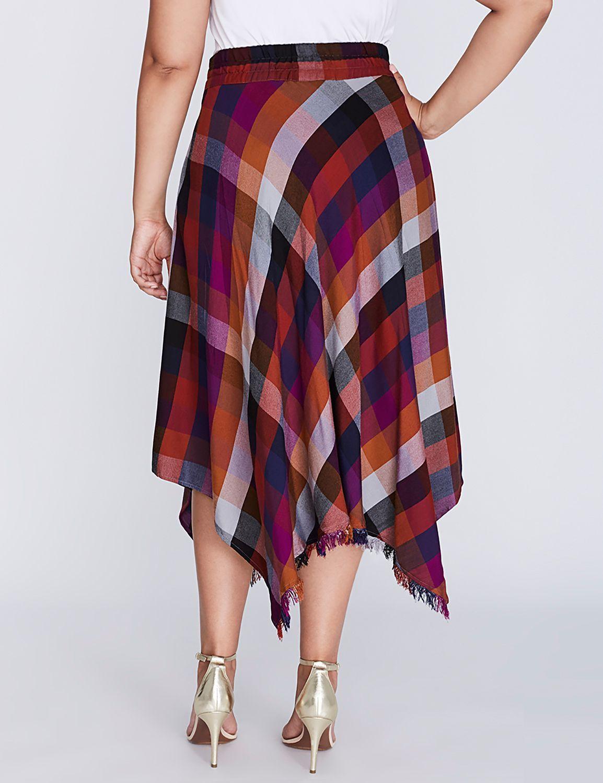 c120754b55df0 Fringe Tissue-Hem Skirt by Melissa McCarthy Seven7