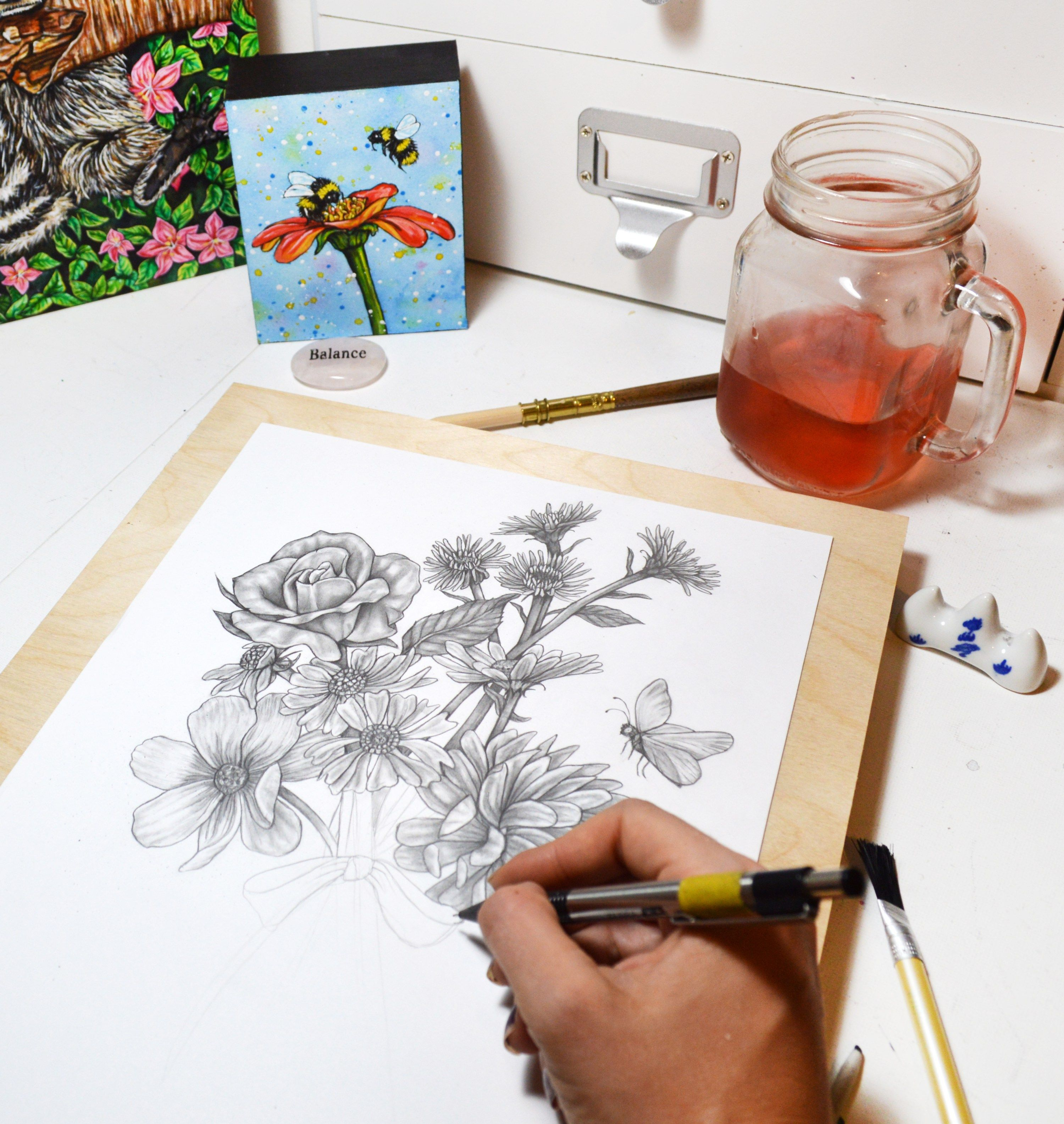Butterfly flower drawing what i love to do pinterest drawings