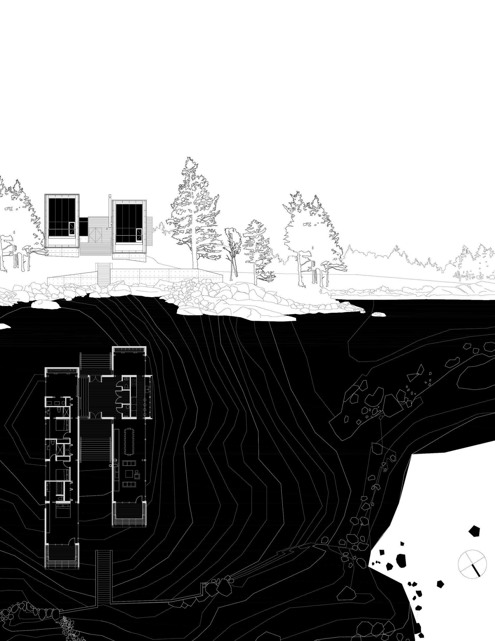 Two Hulls House Representacion Grafica Layout Architecture