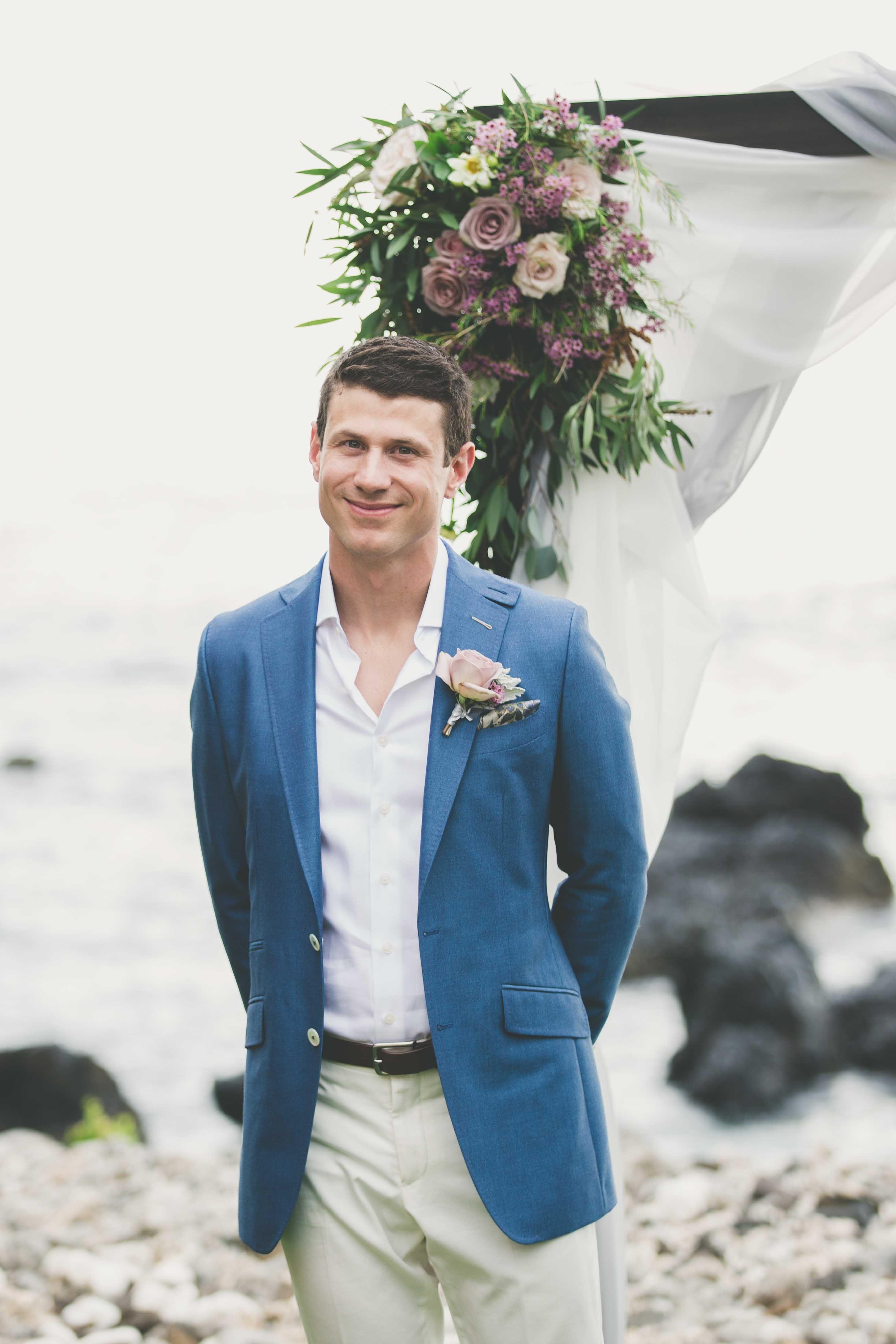 Groom Style -- blue jacket -- Maui Maka Photography   Groom + ...
