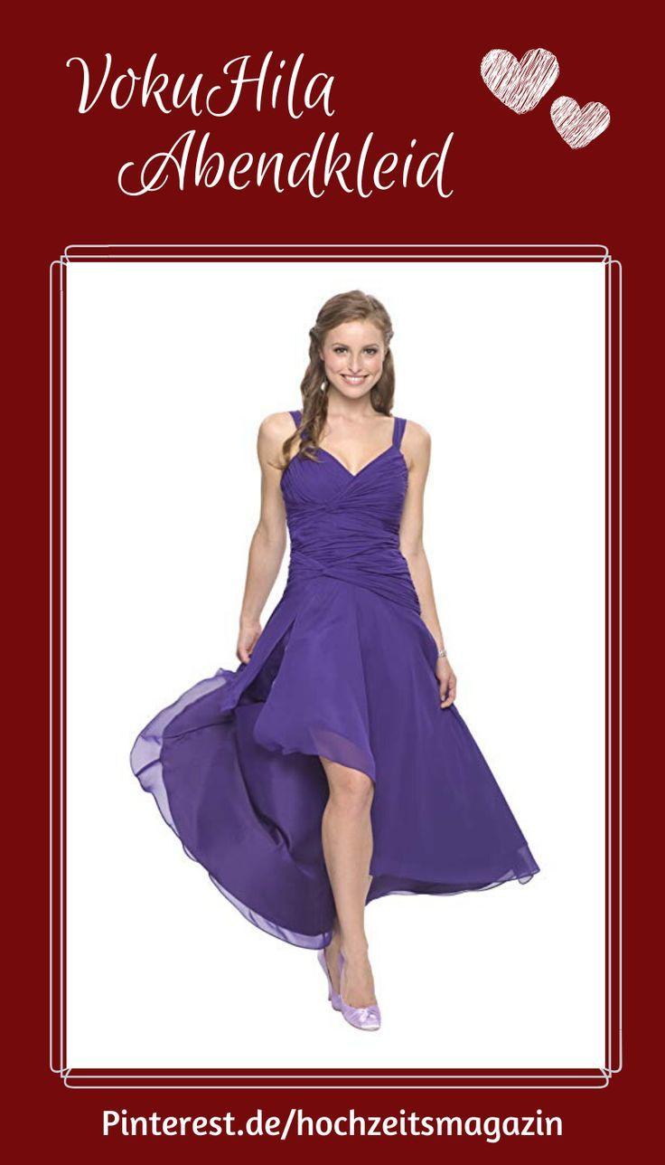 Vorne kurz und hinten lang: Damen Cocktail Kleid mit ...