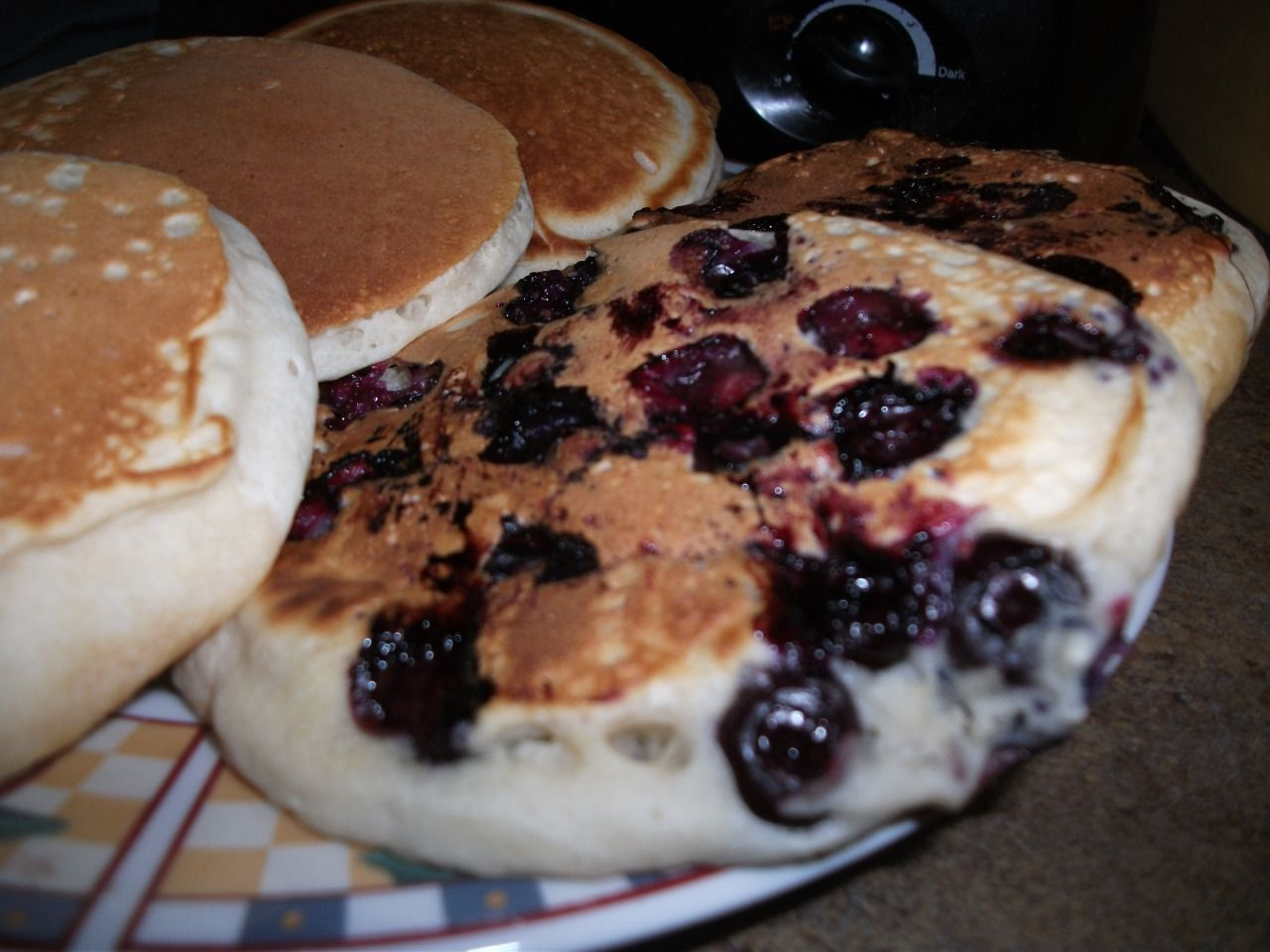 Blueberry Pancakes (Click Here For Recipe)