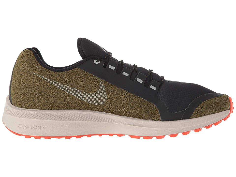 official photos 044fa e8598 ... ebay nike air zoom winflo 5 run shield mens running shoes olive flak  metallic silver string