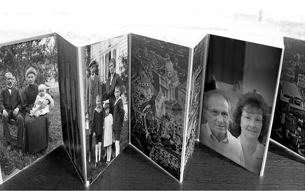 Diy Accordion Picture Frame Photos Mounted On Art Boards Hinged