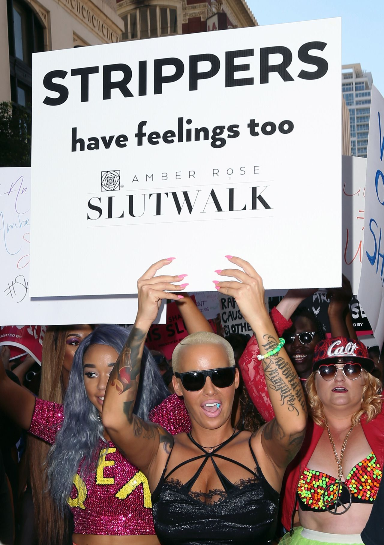 Amber Rose Breaks Down During SlutWalk, Kanye