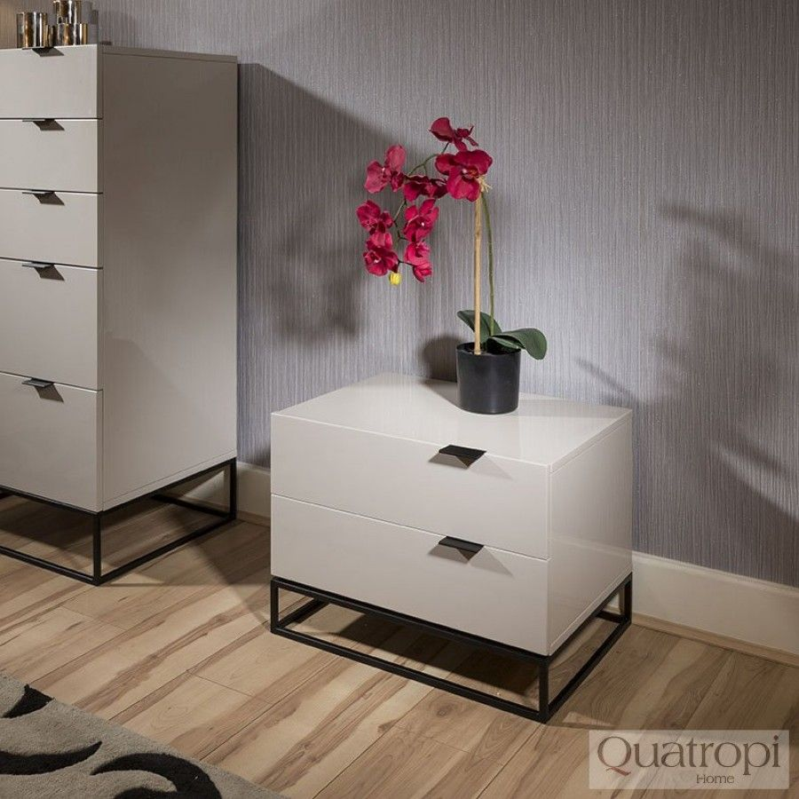 Best Quatropi Bedside Table Nightstand Lamp Table In Stone 400 x 300