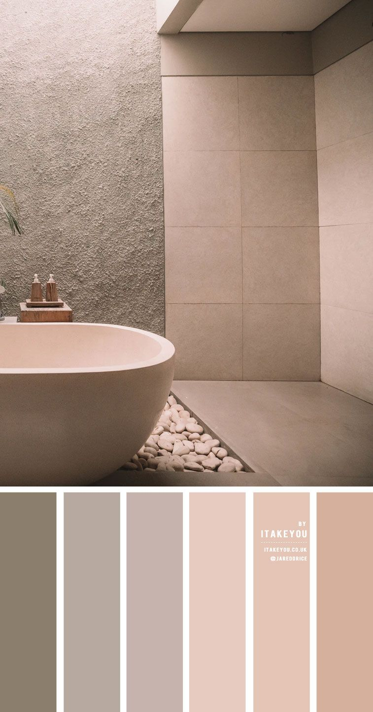 earth tone color combos for minimalist bathroom in 2020