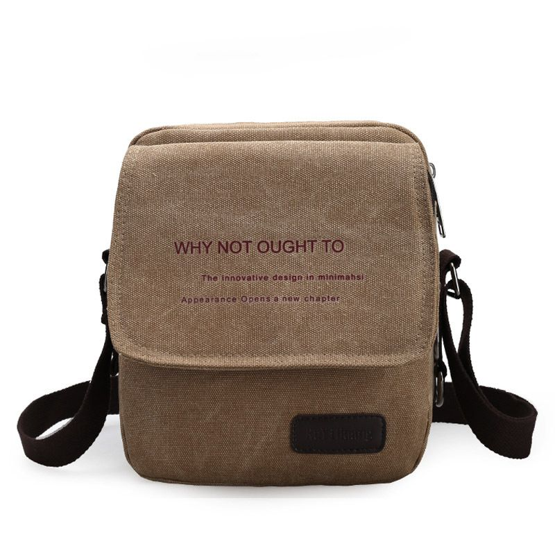 8adbef5389e3 New Arrival Small Men s Messenger Bags Canvas Vintage Bag Men Shoulder  Crossbody Bags for Man Black