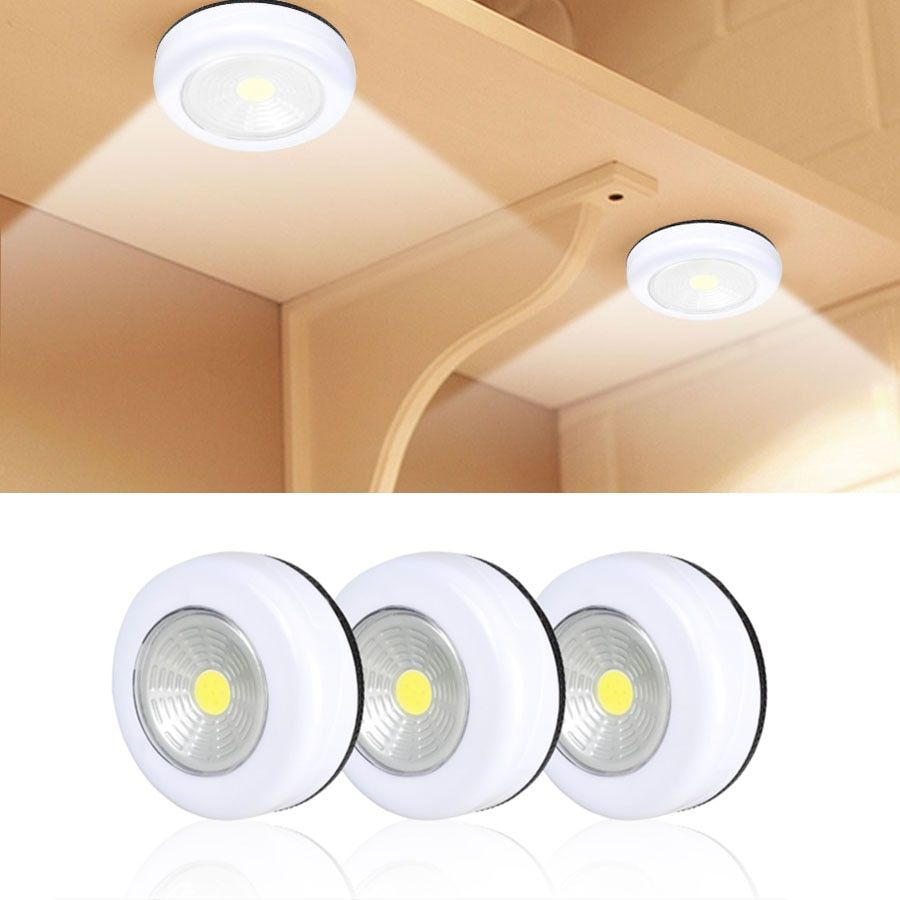 Cob Led Under Cabinet Light With Adhesive Sticker Wireless Wall Lamp Wardrobe Cupboard Draw In 2020 Led Under Cabinet Lighting Under Cabinet Lighting Cabinet Lighting