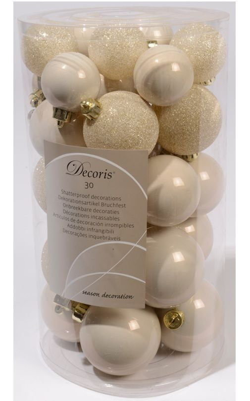 detailing cc1f7 b155a 30 Luxury Shatterproof Christmas Baubles Decoration - Wool ...