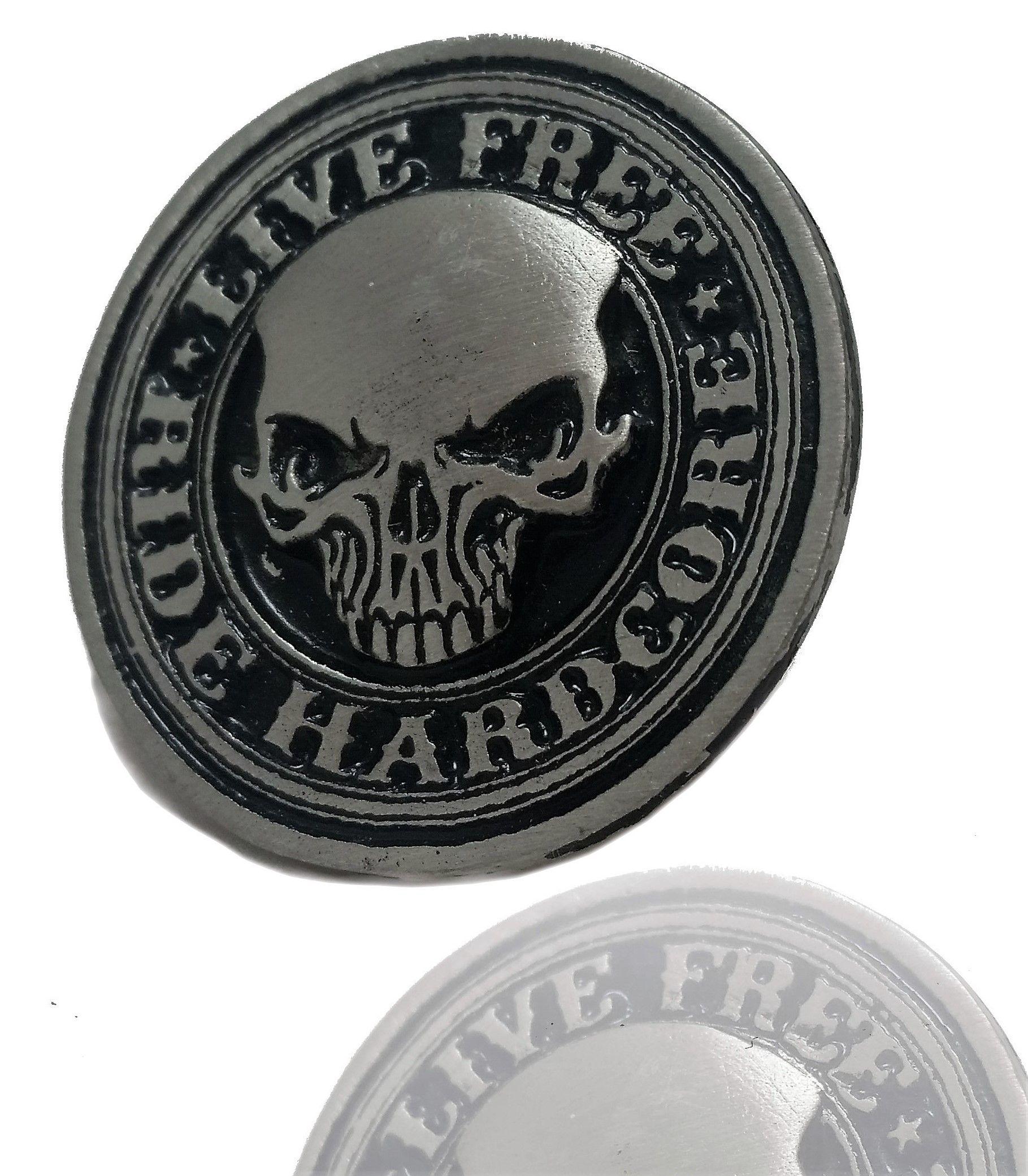 Daywalker Bikestuff Skull Pin Badge Biker Pin