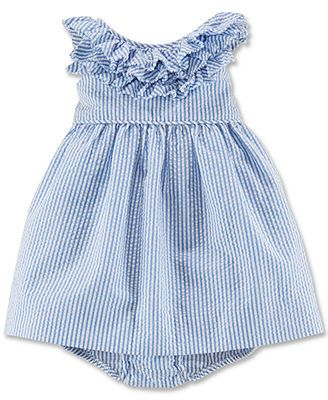 db44f8cbb8b Ralph Lauren Baby Girls  Seersucker Dress   Reviews - Kids - Macy s