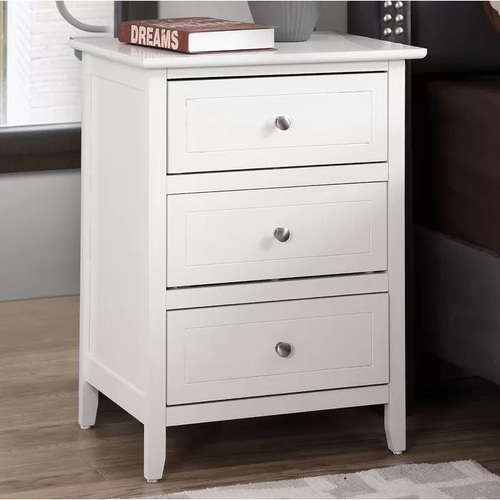 lark manor ovellette 3 drawer nightstand reviews black wayfair gothic 4 poster bed