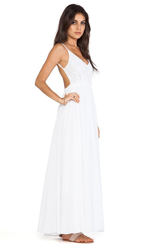 0162d7357ceb Raga Backless Maxi Dress in White | REVOLVE | a formal affair ...