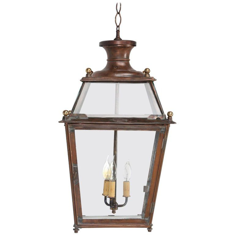 Antique French Copper Lantern Red In 2019 Products