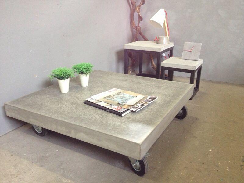 Salontafel Van Beton : Beton salontafel wieltjes wohnen pinterest salons living