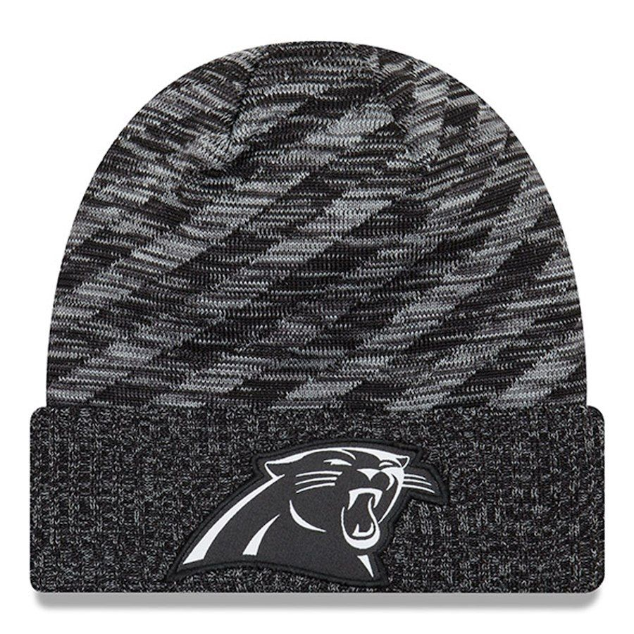 41d2cc5d096459 ... good mens carolina panthers new era black 2018 nfl sideline cold  weather black td knit hat ...