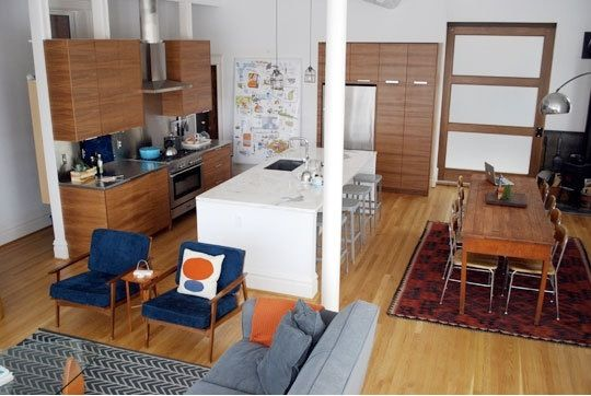 Using Rugs To Divide A Room Apartment Therapy House Tours Dining Room Combo Living Room Decor Apartment