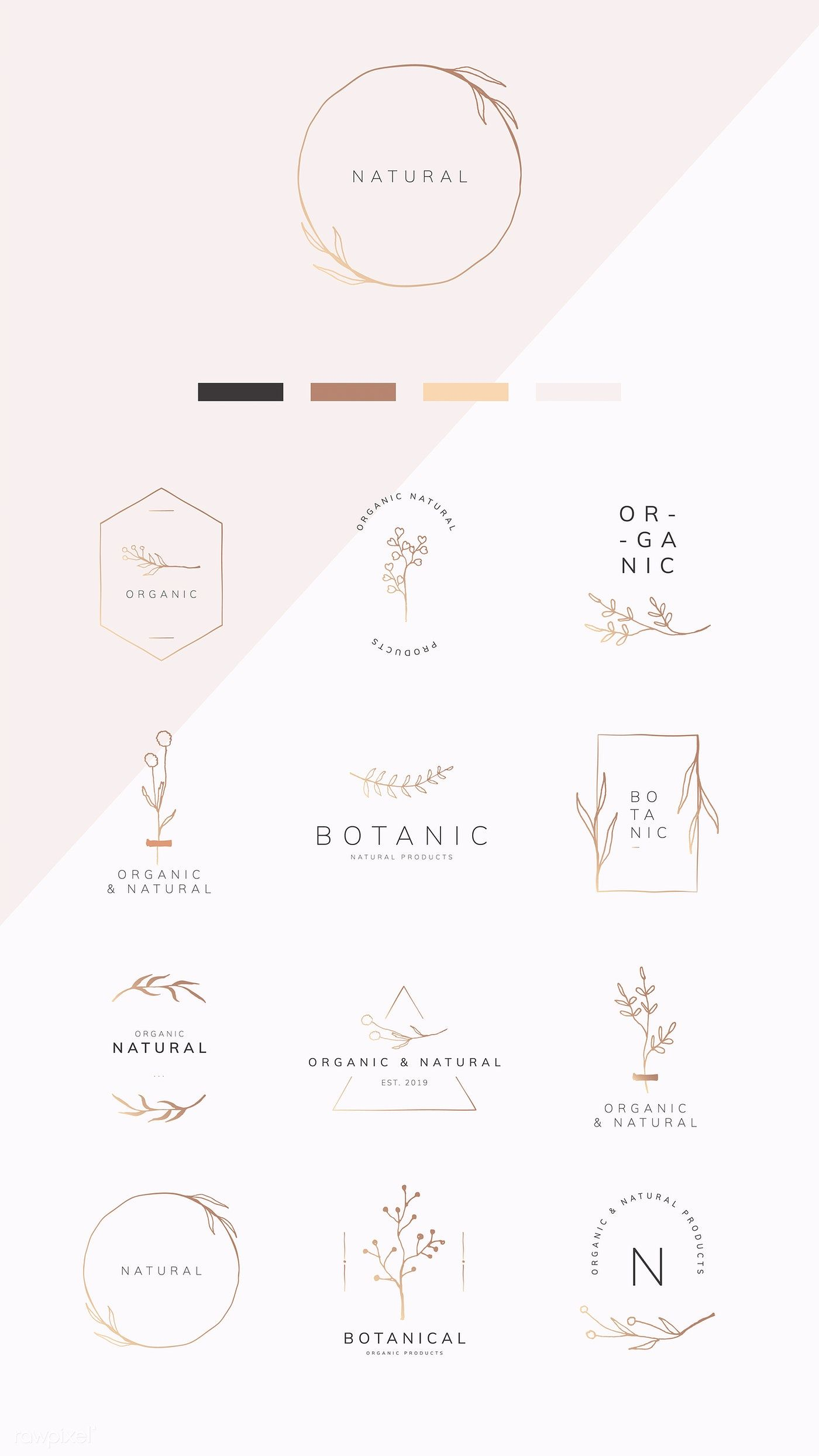 Download premium illustration of Organic product brand logo vector is part of Vector logo design, Branding design logo, Logo branding, Logo design inspiration, Vector logo, Branding - Download premium illustration of Organic product brand logo vector collection by sasi about badge, beige, beige background, botanic and botanical