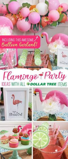 Cheap but CLASSY Flamingo Party Decoration Ideas! Cheap but TASTEFUL Flamingo Party Decoration Ideas, using ALL items from the Dollar Tree! We hosted a beautiful Flamingo Baby Shower for my sister that didn't break the bank!!! Everyone LOVED the flamingo theme and especially the DIY Tropical Balloon Garland, flamingo cupcake topper and a FREE printable!