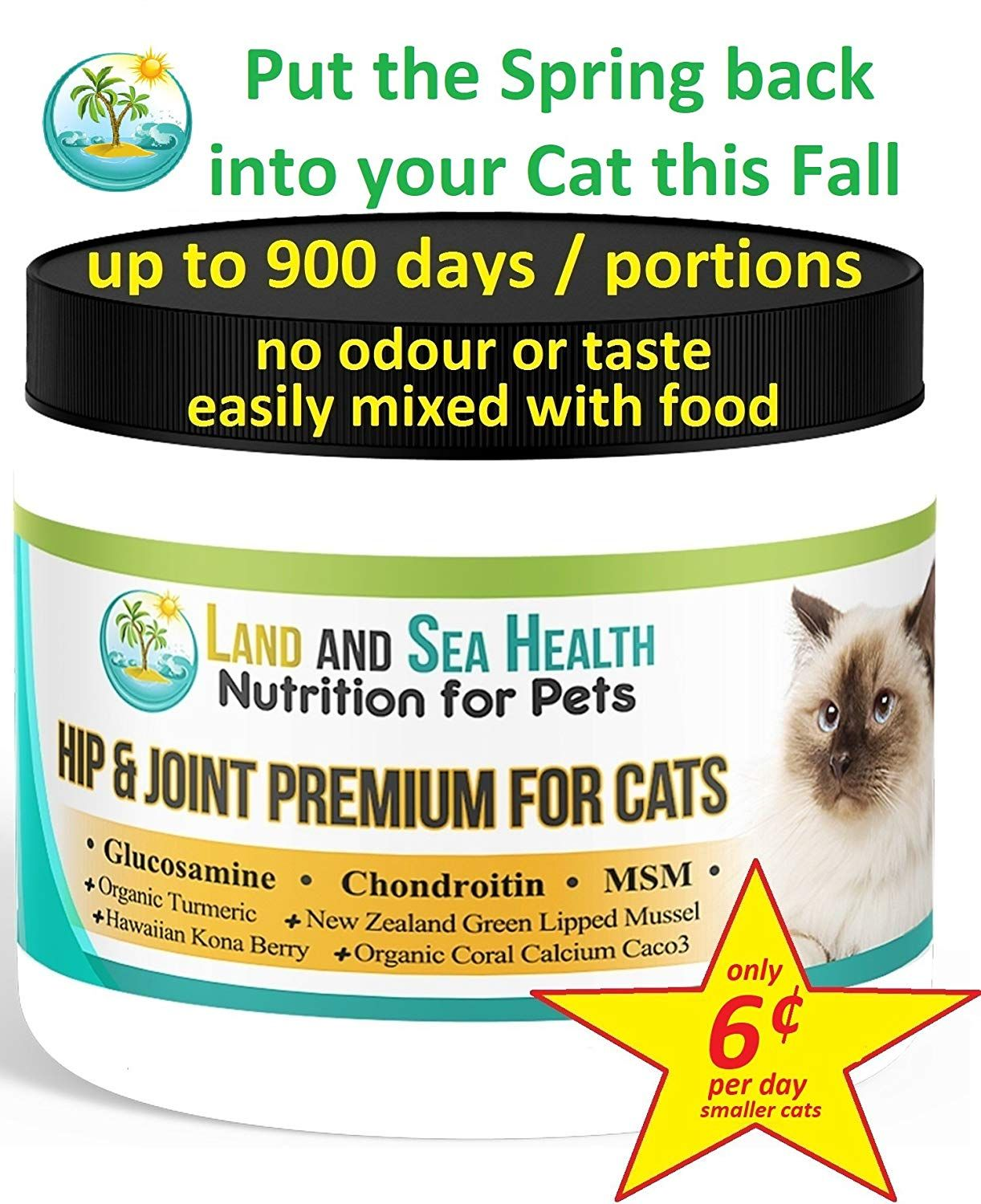Hip And Joint Premium For Cats Glucosamine Chondroitin Msm Organic Coral Calcium Nz Green Lipped Mussel Green Lipped Mussel Organic Turmeric Chondroitin