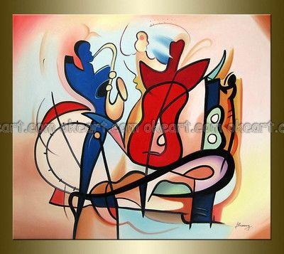 Abstract Jazz Band Art Dromfjd Top Art Illustrations