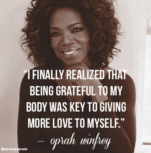 Oprah Body Positive Quote Curvy Quote