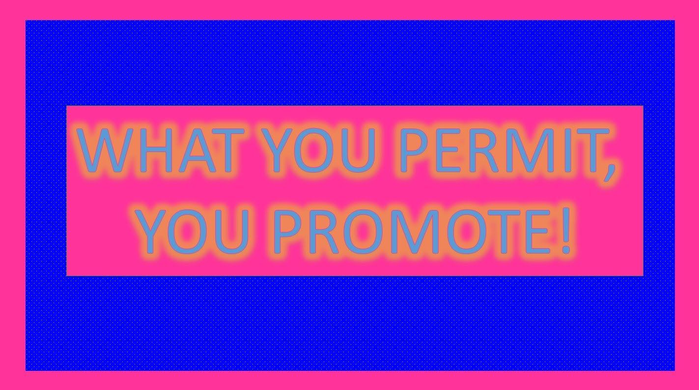What You Permit You Promote| How to Encourage Positive Behavior on Your .  Assume positive intent. how to get a promo… | Positive behavior,  Positivity, Encouragement