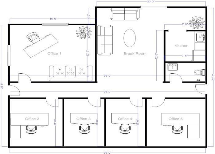 Pin by Noa Tadmor on Plan and section | Pinterest | Office floor ...