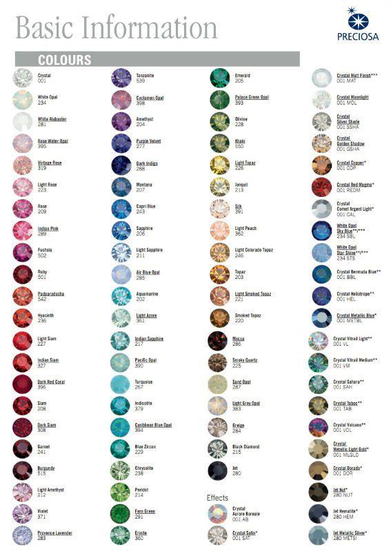Carta Colores Preciosa The Whatever Pinterest Gems Colour