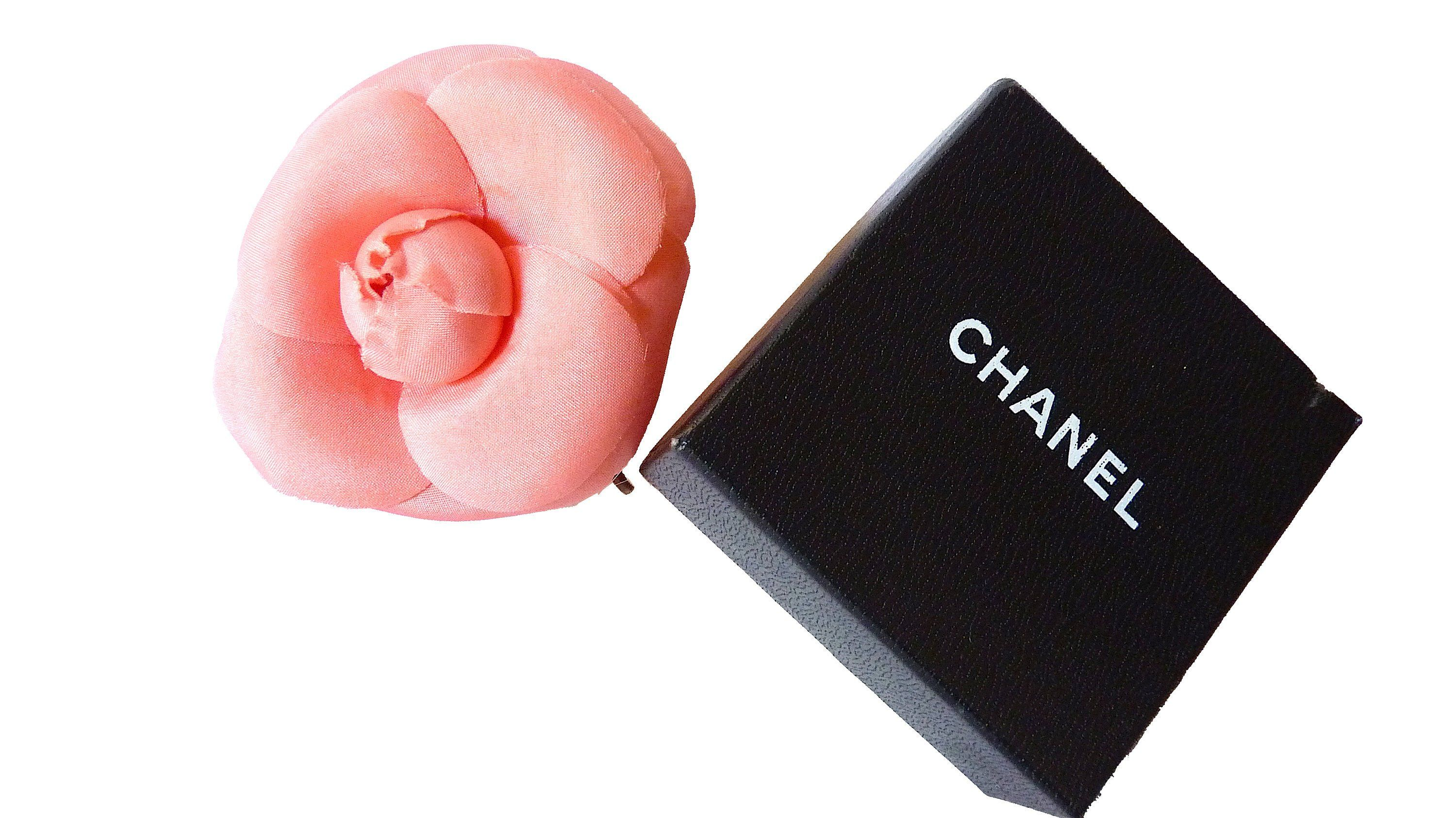 702f514d9b9 Auth CHANEL Camellia Brooch with Box