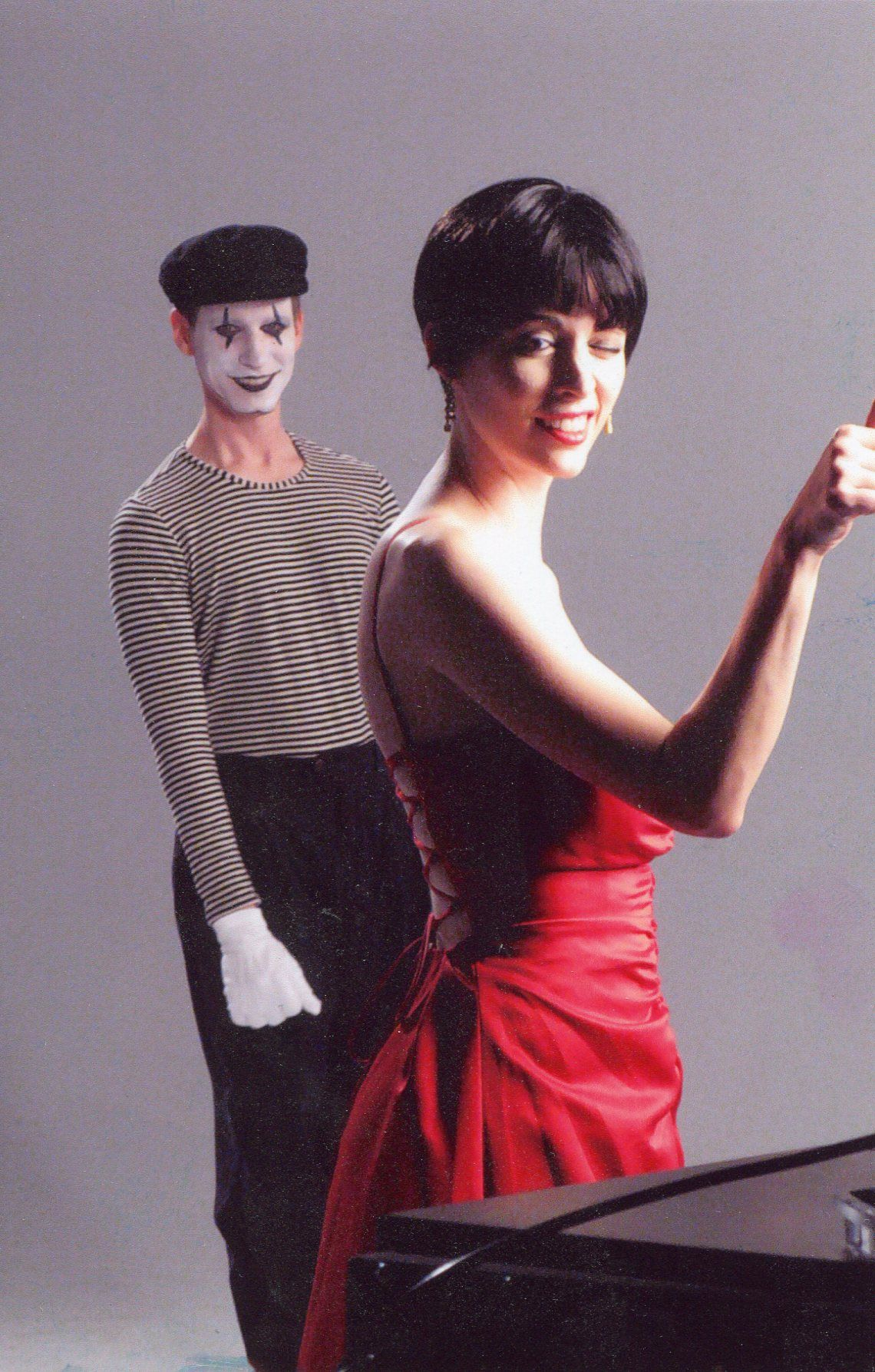 Shooting the 'Loveless' perfume ad with Tim as a mime.
