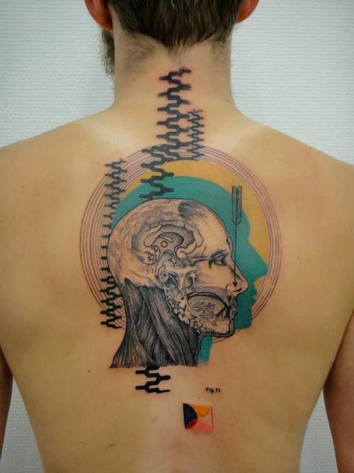 Human Anatomy Back Tattoo By Xol Tattoo Xil Pinterest Human