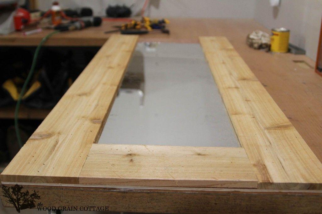 DIY Wood Framed Mirror