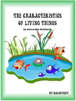 Non Living Characteristics Of Living Things 16 Page Interactive Notebook Information Activities Foldable Printable Quiz And Answer Key 7th Grade